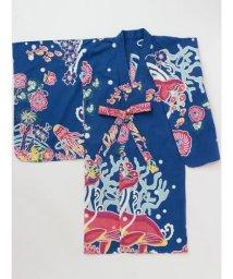 CAYHANE(kids)/【チャイハネ】紅型風プリントキッズ浴衣110cm IAC-9242/502355503