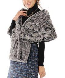 sankyoshokai/レッキスファー ケープ ストール フラワー お花デザイン/502355963