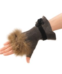 sankyoshokai/セーブル & ニット 手袋 リボン カシミヤ・ウール 指なし手袋 ミトン/502355974