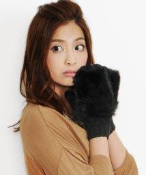 sankyoshokai/ラビット ファー 手袋 ミトン ニット/502356045