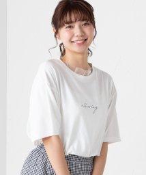 WEGO/WEGO/チュールフリルロゴTシャツ/502087594