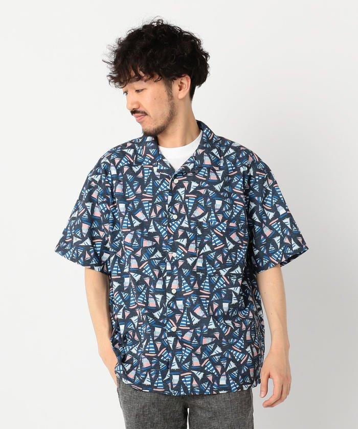 【HELLY HANSEN / ヘリーハンセン】ショートスリーブヨットプリントシャツ HE41910