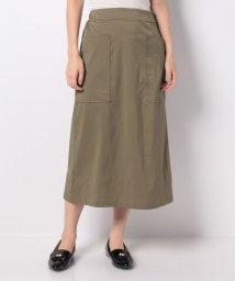 MELROSE Claire/ドライタッチストレッチボックスシルエットスカート/502348209