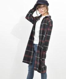 felt maglietta/ゆるっとシルエットチェックシャツワンピ/502354904