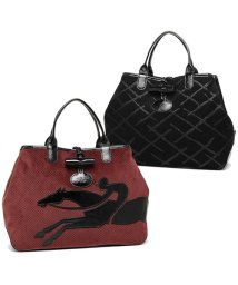 Longchamp/ロンシャン トートバッグ レディース LONGCHAMP 1681 651 001 ブラック レッド/502355727