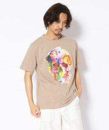 LHP/MADDICT/マディクト/ルーズシルエット フラワースカルプリントTシャツ/502356567