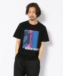 LHP/MADDICT/マディクト/ルーズシルエット ブラックアウトプリントTシャツ/502356573