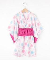 SHOO・LA・RUE(Kids) /【90-140cm】ギャザー帯ドット浴衣/502357729