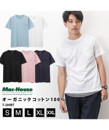 MAC HOUSE(men)/Navy ネイビー オーガニックコットン ポケットTシャツ MH/03489SS-1/502358039