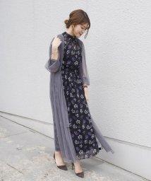 SHIPS WOMEN/little black: チュール羽織ワンピース/502358282