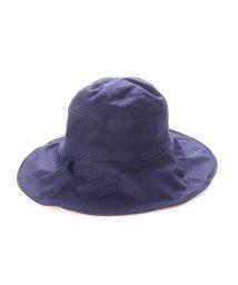 VitaFelice/ヴィータフェリーチェ VitaFelice つば広帽子 マスク焼け防止 UV対策 レディース つば広ハット キャペリンハット コットンハット (NAVY)/502358367