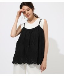 AZUL by moussy/COTTON LASE CAMISOLE TOPS/502359033