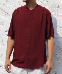 a.v.v (MEN)/レーヨンアサバンドカラーシャツ/502247644