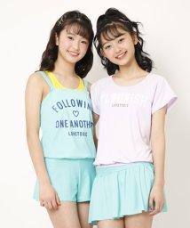 Lovetoxic/カレッジロゴバイカラータンキニ水着【SWIM】/502348305
