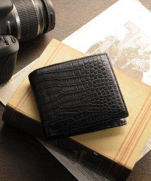 sankyoshokai/スモールクロコダイルレザー二つ折り財布/502358067