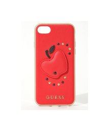 GUESS/GUESS FRUITISTICPULEATHERHARDCASE(RED)/アップルモチーフハードケース レッド/502359554