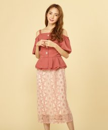 MIIA/ラッセルレースAラインスカート/502360483
