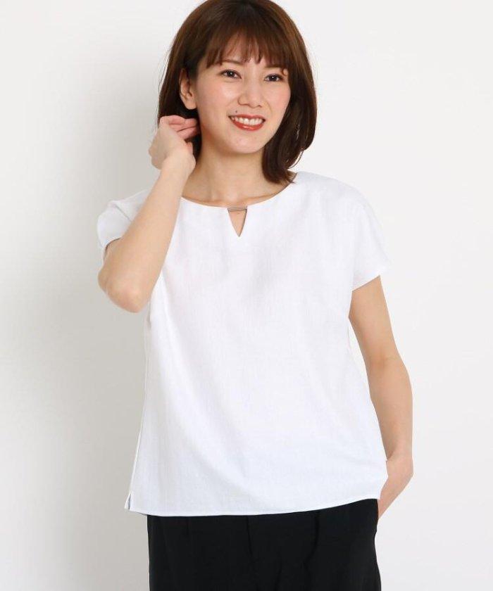 【洗える】バーネック タックスリーブシャツ