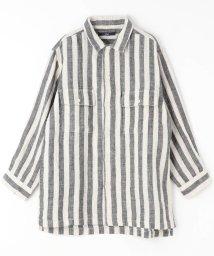 vital/フラップポケット綿麻シャツ/502341033