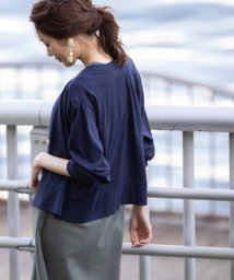 coen/リネン混9分袖カーディガン/502352701