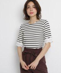 AG by aquagirl/【洗える】【Lサイズあり】レーススリーブテレコプルオーバー/502363162