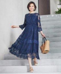 KUMIKYOKU(LARGE SIZE)/【結婚式やパーティーに】総レースロング ドレス/502363415