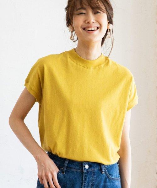 coen(コーエン)/【WEB限定カラーに新色ブラウン登場】USAコットンハイネックTシャツ/76256009019