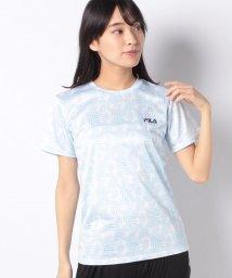FILA/【FILA】PEメッシュリーフ柄Tシャツ/502004500