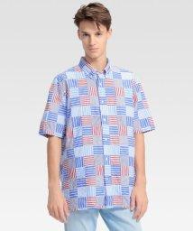 TOMMY HILFIGER MENS/パッチワークショートスリーブシャツ /502350796