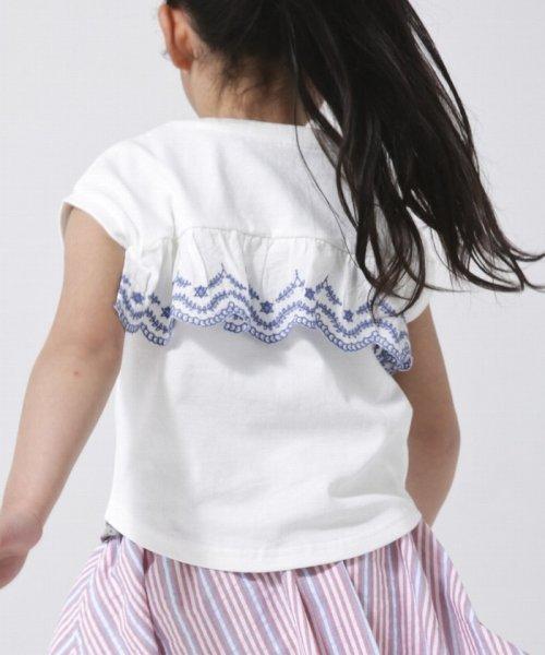 coen(コーエン(キッズ))/【coen キッズ/ジュニア】バックスカラップ刺繍ドルマンTシャツ/77256009052