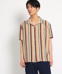 THE SHOP TK/【WEB限定】ビッグシルエットストライプ開襟シャツ/オープンカラーシャツ/502363944