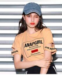ANAP GiRL/ボックス刺繍袖カットトップス/502364080