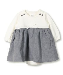 branshes/ドッキングワンピ風長袖カバーオール(70~80cm)/502366021
