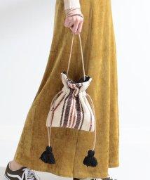 Ray BEAMS/【WEB限定】Lilas Campbell / ストライプ 巾着 バッグ/502367461