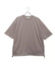 STYLEBLOCK/スタイルブロック STYLEBLOCK 裾スピンドル5分袖ビッグTシャツ (ベージュ)/502368632