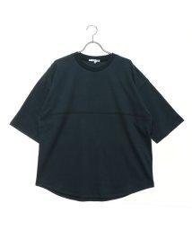 STYLEBLOCK/スタイルブロック STYLEBLOCK 綿ポンチ5分袖ビッグTシャツ (グリーン)/502368637