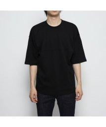 STYLEBLOCK/スタイルブロック STYLEBLOCK 綿ポンチ5分袖ビッグTシャツ (ブラック)/502368638