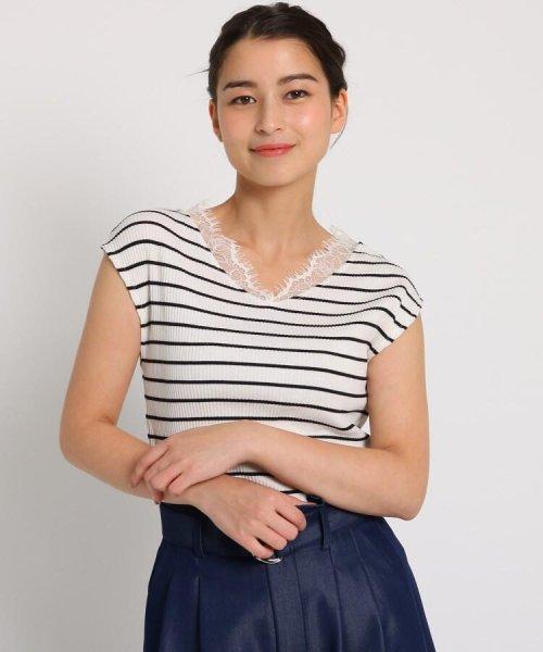 AG by aquagirl(AG バイ アクアガール)/【WEB限定プライス】ヒゲレースネックリブプルオーバー/201901C1216555