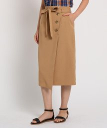 AG by aquagirl/【洗える】【Lサイズあり】ベルテッドアシンメトリーボタンスカート/502368936