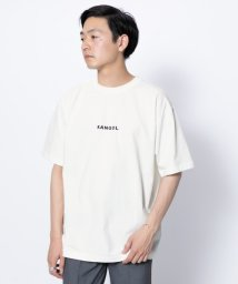 SENSE OF PLACE/【別注】KANGOL ロゴTシャツ(5分袖)/502369183
