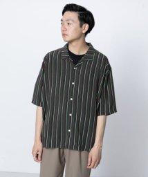 SENSE OF PLACE/レジメンタルストライプシャツ(5分袖)/502369186
