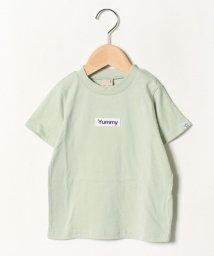 petit main/接触冷感 ボックスロゴ刺しゅうTシャツ/502362391