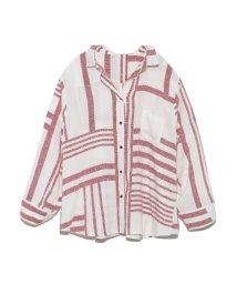 Mila Owen/オープンカラーオリエンタルプリントシャツ/502371275