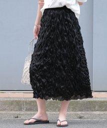 ANDJ/絞りプリーツナロースカート /502371478