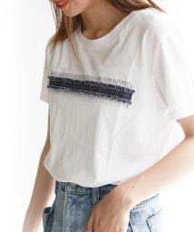 REAL CUBE/ポイントデニムロゴTシャツ/502372258