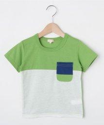 HusHush(Kids)/【90-150cm】吸水速乾/カラーブロッキングTシャツ/502372287