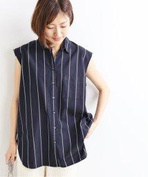 IENA/R/Pストライプ ノースリーブシャツ◆/502372968