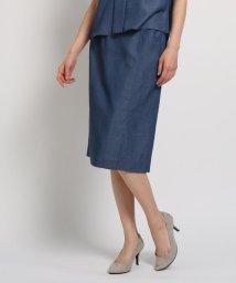 COUP DE CHANCE/【洗える】サイドポケット付きツイルタイトスカート/502373026
