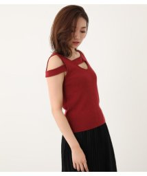 rienda/Deformation Knit TOP/502374343