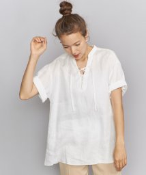 BEAUTY&YOUTH UNITED ARROWS/BY レースアップチュニックブラウス/502357205